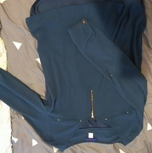 Blue blouse size xl with front zip